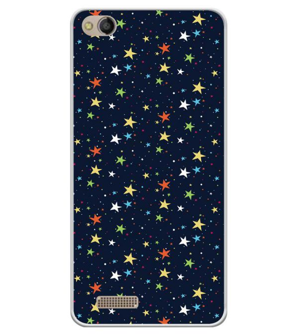 Colourful Stars Soft Silicone Back Cover for Mobistar CQ Dual