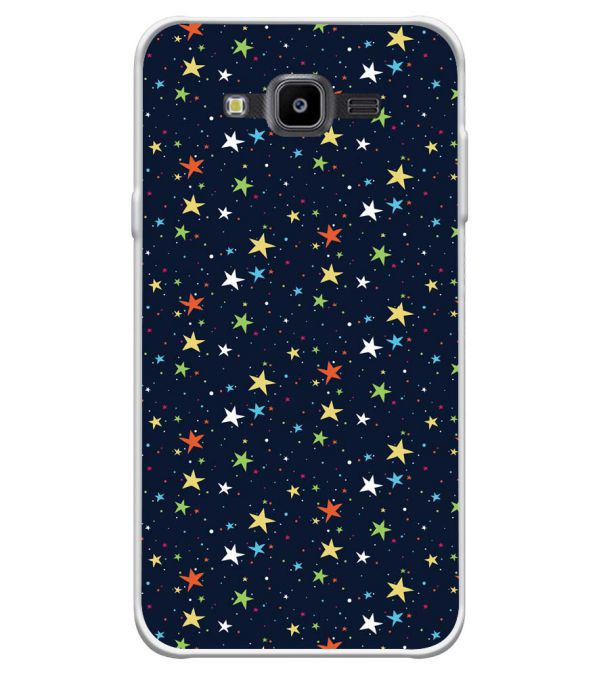 Colourful Stars Soft Silicone Back Cover for Samsung Galaxy J7 Nxt