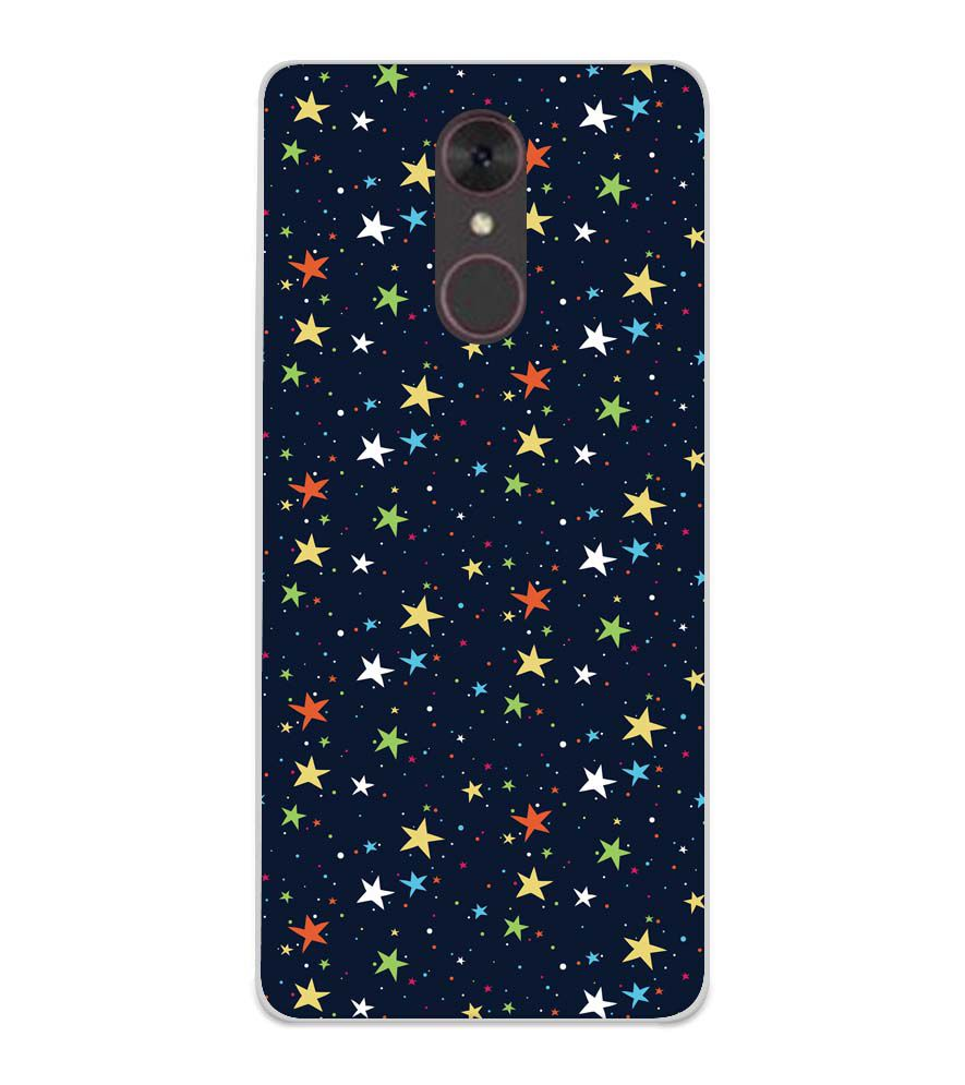 Colourful Stars Soft Silicone Back Cover for Spice F311