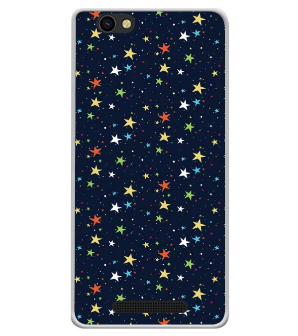 Colourful Stars Soft Silicone Back Cover for Xolo ERA X