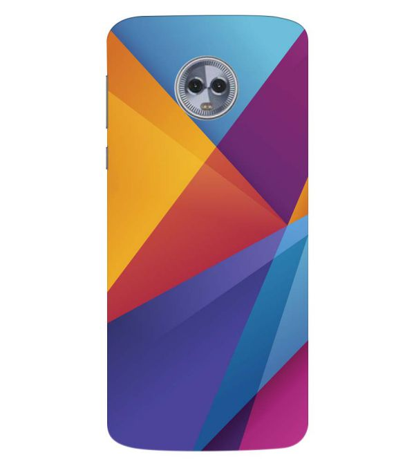 wholesale dealer 7f46d d0fb7 Colours Pattern Back Cover for Motorola Moto G6 Plus