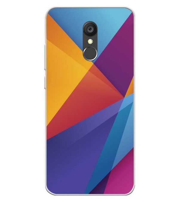 Colours Pattern Soft Silicone Back Cover for Panasonic Eluga Ray 550