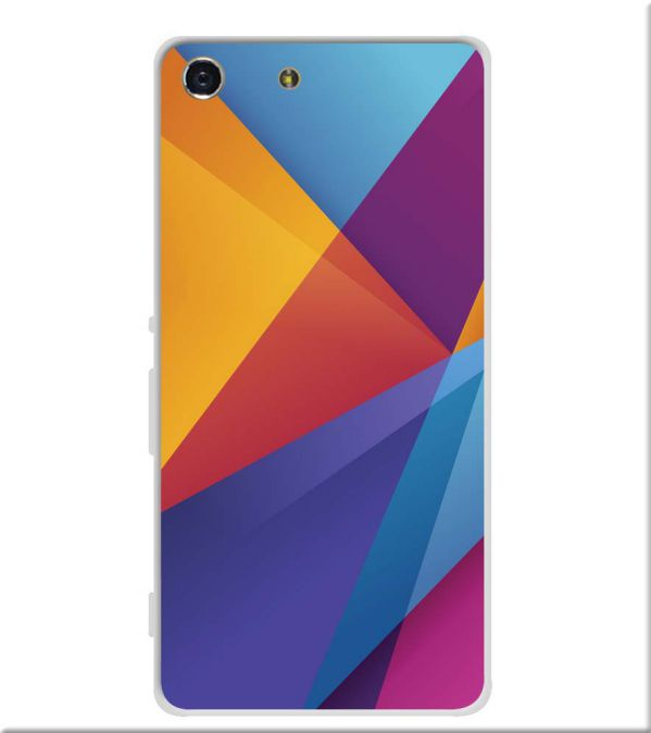 Colours Pattern Soft Silicone Back Cover for Sony Xperia M5