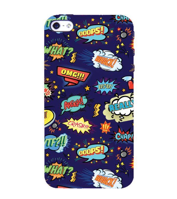 Comic Pattern Back Cover for Apple iPhone 4 : 4S