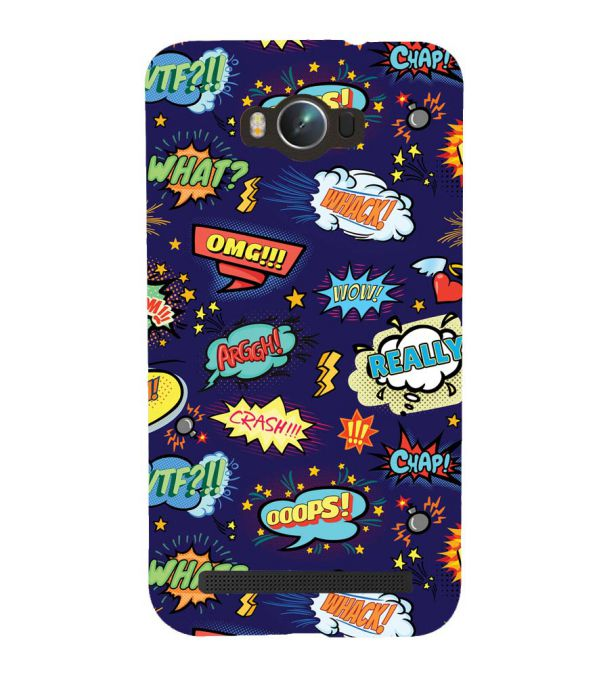Comic Pattern Back Cover for Asus Zenfone Max ZC550KL