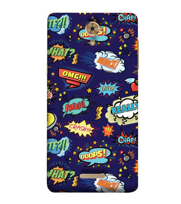 Comic Pattern Back Cover for Coolpad Mega 2.5D