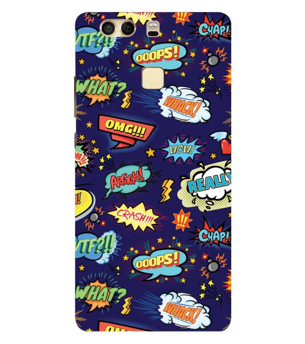 Comic Pattern Back Cover for Huawei P9