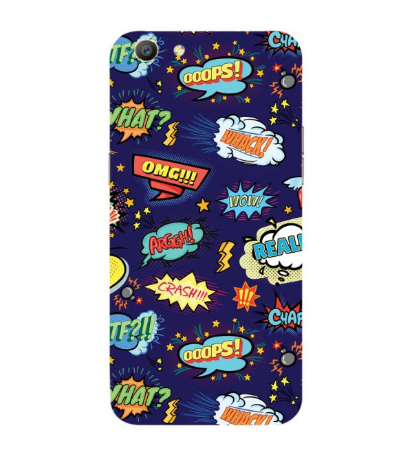 Comic Pattern Back Cover for Oppo A57 : A39