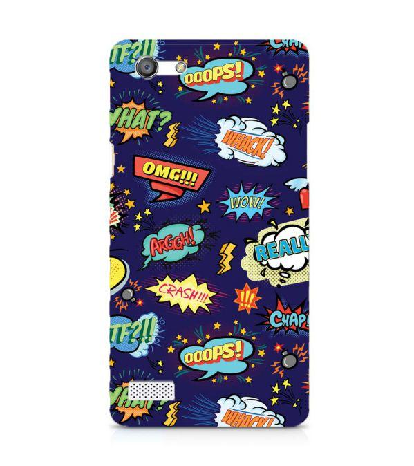 buy popular 1c8d0 948a3 Funny Pattern Collection Back Cover for Oppo Neo 7