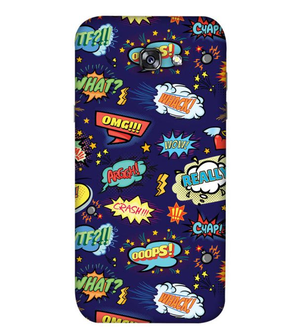 Comic Pattern Back Cover for Samsung Galaxy A5 (2017)