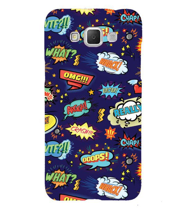 Comic Pattern Back Cover for Samsung Galaxy Grand Max G720