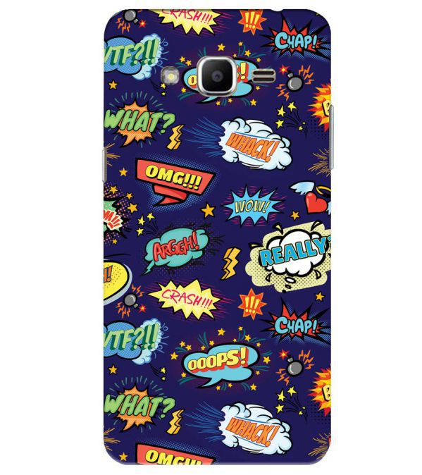 Comic Pattern Back Cover for Samsung Galaxy J2 Ace