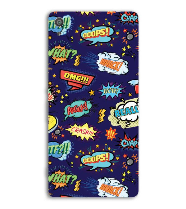 Comic Pattern Back Cover for Sony Xperia XA Ultra