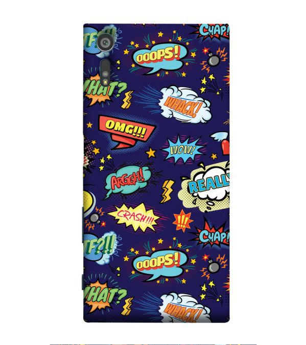 Comic Pattern Back Cover for Sony Xperia XR