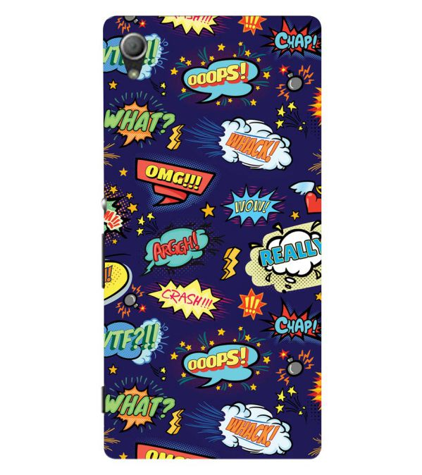 Comic Pattern Back Cover for Sony Xperia Z3+ and Xperia Z4