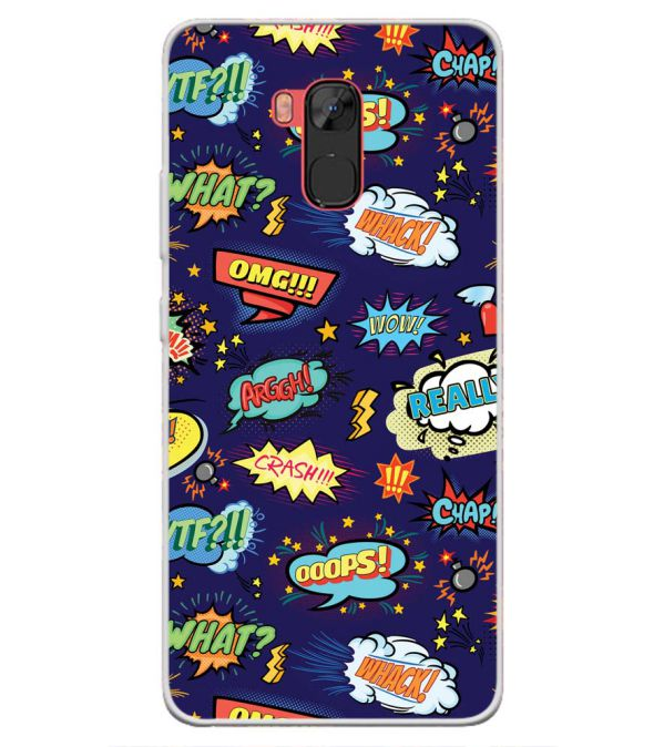 Comic Pattern Back Cover for Infinix Note 5 Stylus-Image3