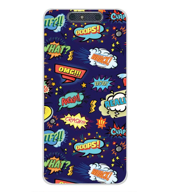 Comic Pattern Back Cover for Micromax Dual 4 E4816-Image3