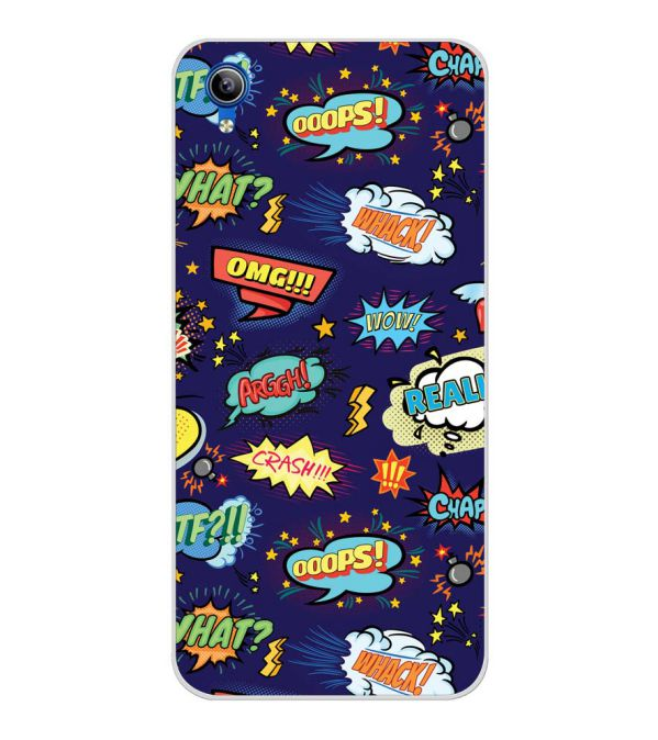 Comic Pattern Back Cover for Vivo Y91i-Image3