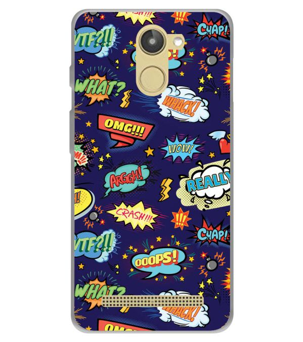 Comic Pattern Soft Silicone Back Cover for 10.or D (Tenor D)