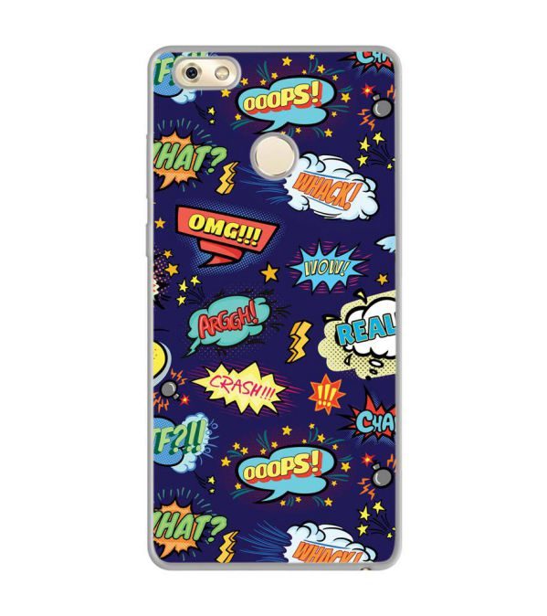 Comic Pattern Soft Silicone Back Cover for Gionee M7 Power