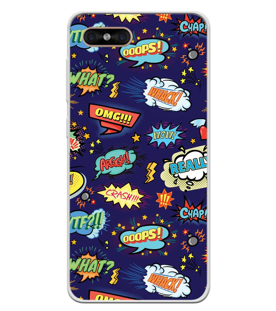 Comic Pattern Soft Silicone Back Cover for Gome C7