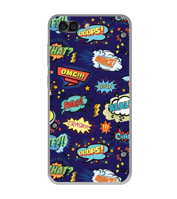 Comic Pattern Soft Silicone Back Cover for InFocus Turbo 5 Plus
