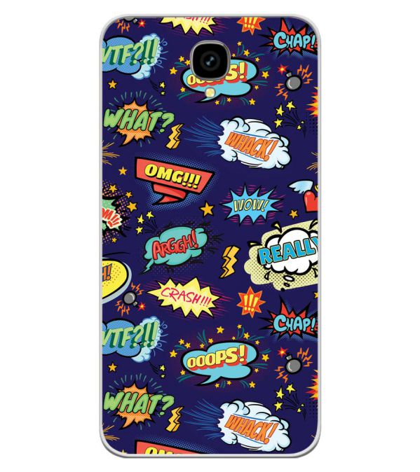 Comic Pattern Soft Silicone Back Cover for Intex Aqua Lions T1 Lite