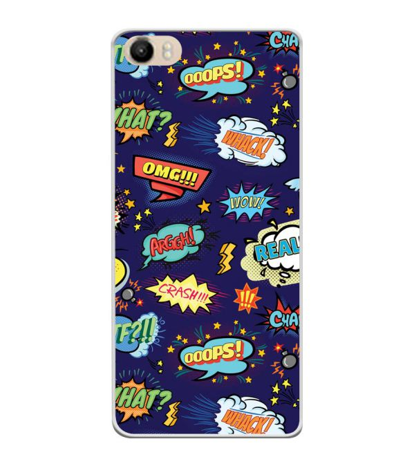 Comic Pattern Soft Silicone Back Cover for Itel PowerPro P41