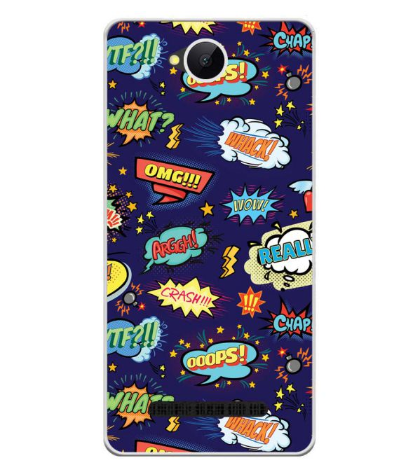 Comic Pattern Soft Silicone Back Cover for Karbonn A45 Indian