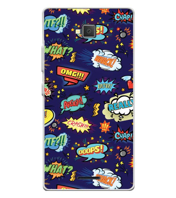 Comic Pattern Soft Silicone Back Cover for Lava A82