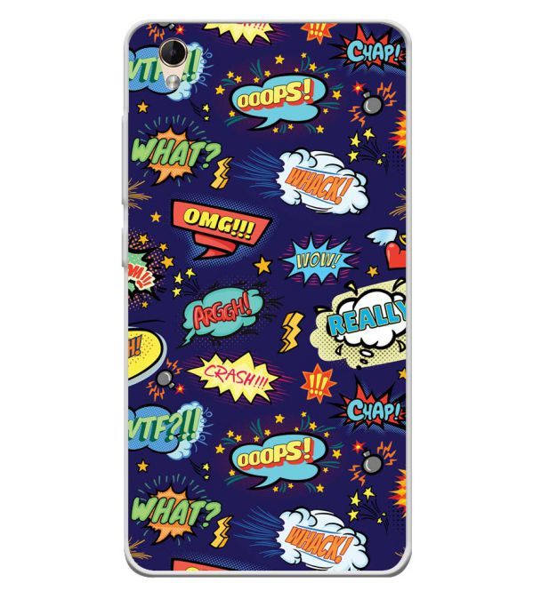 Comic Pattern Soft Silicone Back Cover for Lava Z60