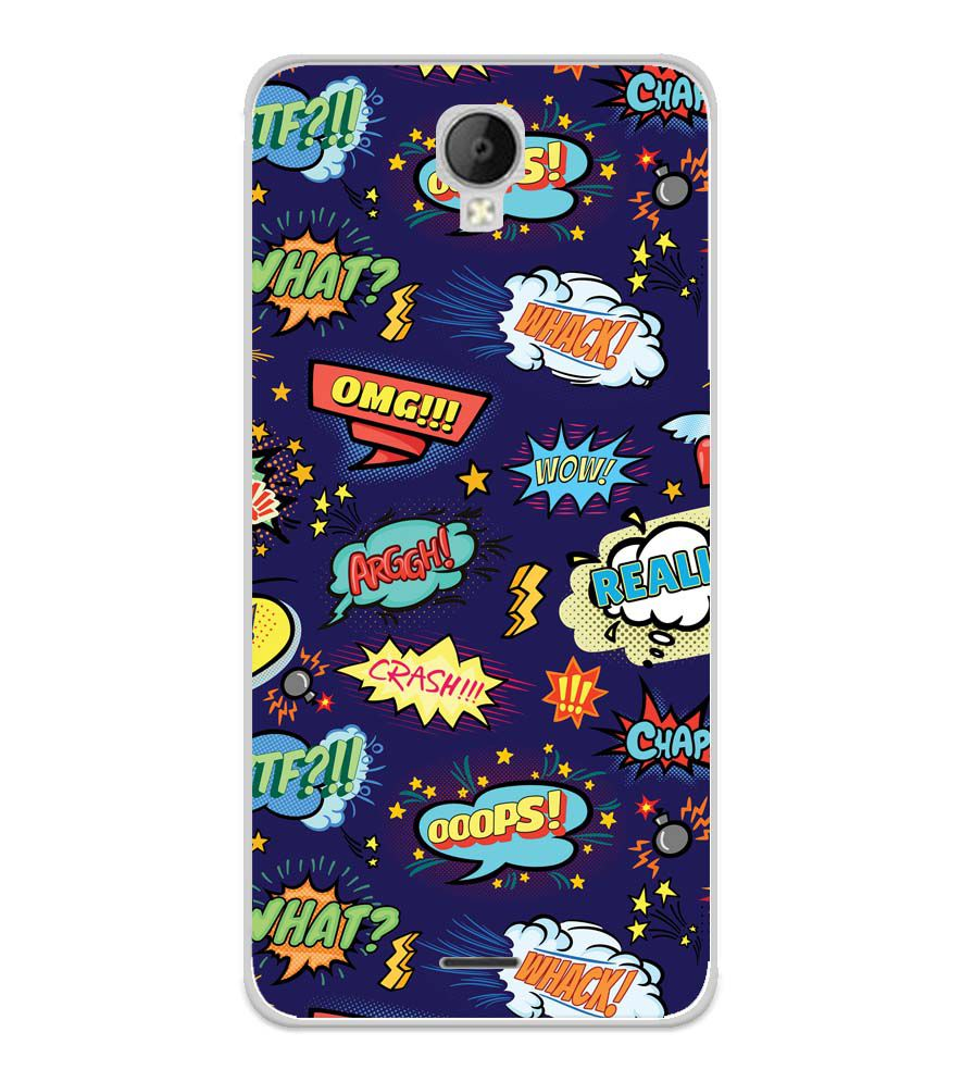 Comic Pattern Soft Silicone Back Cover for Micromax Spark Go