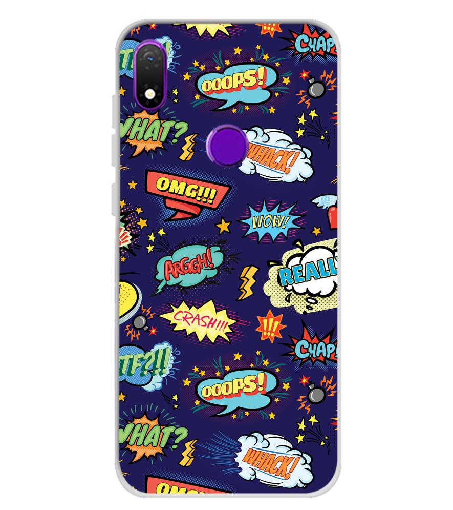 Comic Pattern Soft Silicone Back Cover for Mobiistar X1 Notch