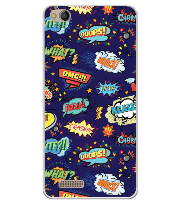 Comic Pattern Soft Silicone Back Cover for Mobistar CQ Dual