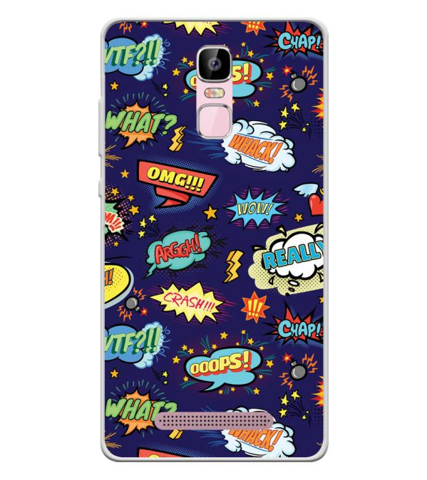Comic Pattern Soft Silicone Back Cover for Zen Admire Sense Plus