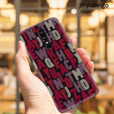 Cool Alphabets Back Cover for OnePlus 6-Image2