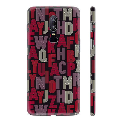 Cool Alphabets Back Cover for OnePlus 6