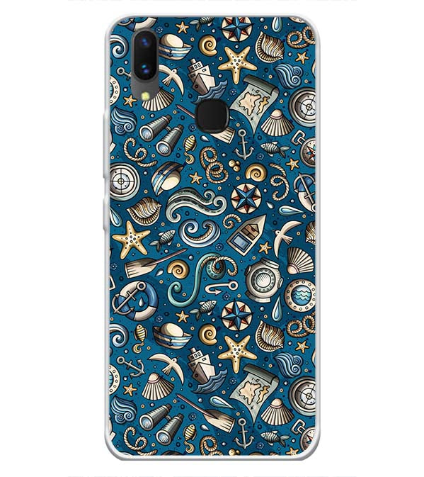 Cool Blue Soft Silicone Back Cover for Vivo X21