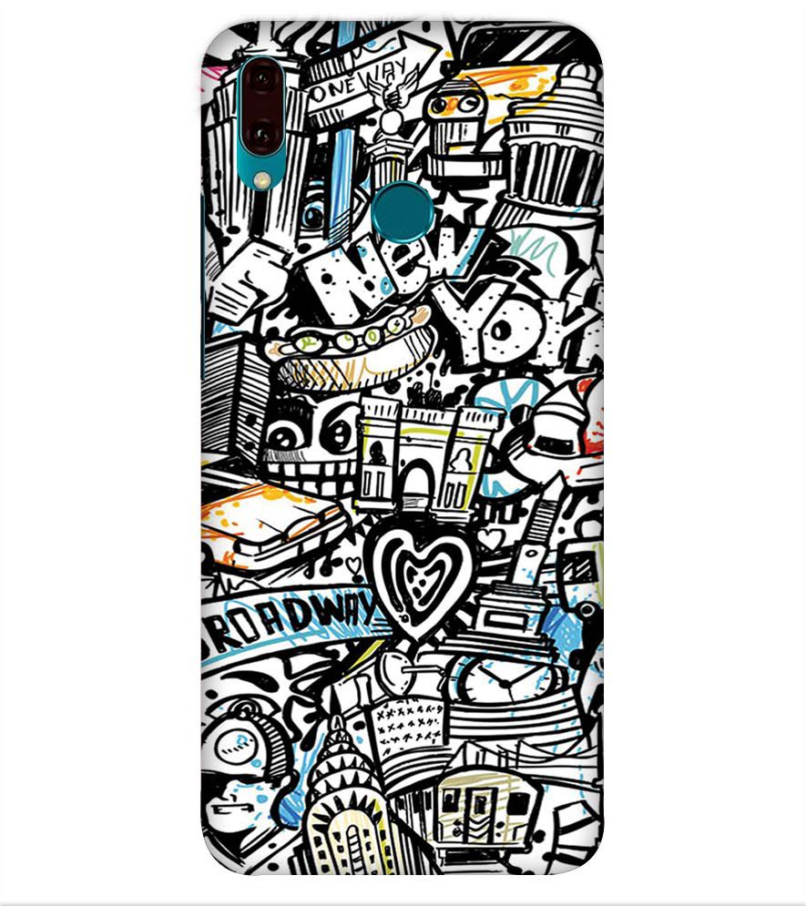 Cool Graffiti Back Cover for Huawei Y9 (2019)