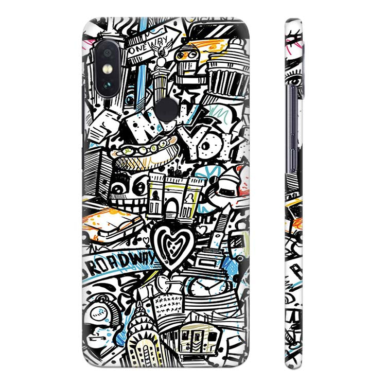 another chance 7a3ba 6b925 Cool Graffiti Back Cover for Xiaomi Redmi Note 5 Pro