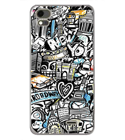 Cool Graffiti Back Cover for Karbonn Aura Note 4G