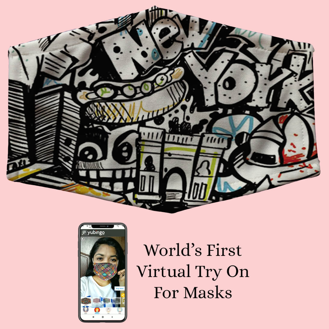 Cool Graffiti Mask