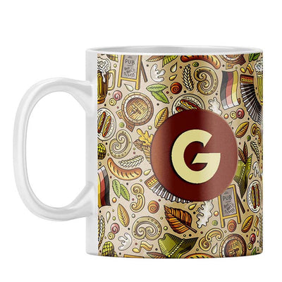 Cowboy Beer Customised Alphabet Coffee Mug