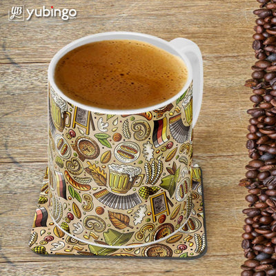 Cowboy Beer Customised Alphabet Coffee Mug With Coaster-Image4