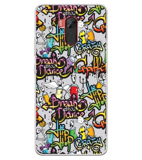 Crazy Graffiti Back Cover for Infinix Note 5 Stylus-Image3