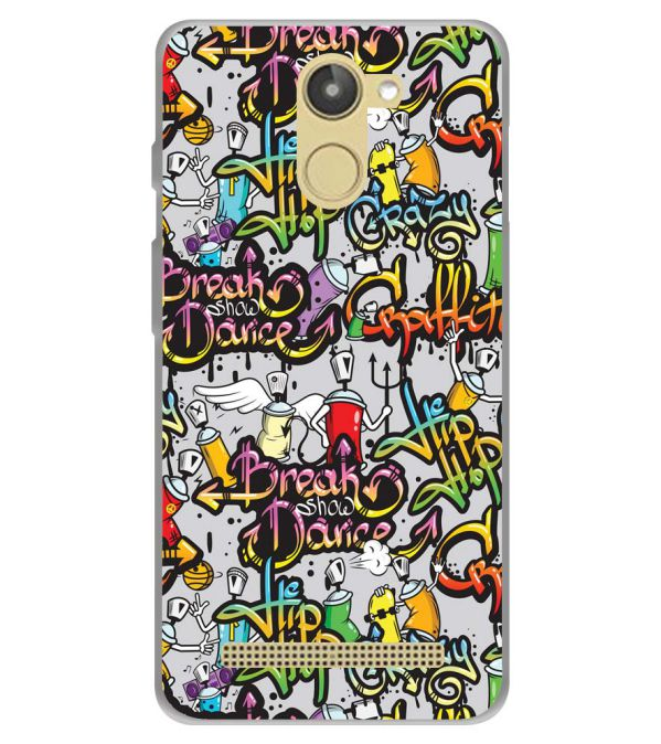 Crazy Graffiti Soft Silicone Back Cover for 10.or D (Tenor D)