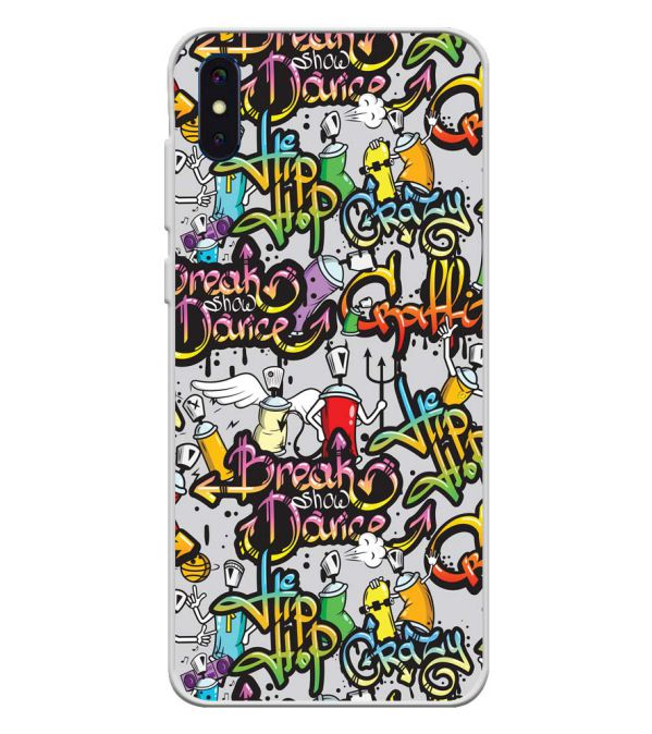 Crazy Graffiti Soft Silicone Back Cover for iVoomi i2