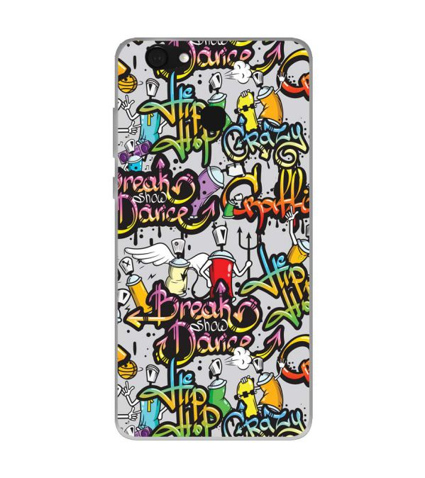 Crazy Graffiti Soft Silicone Back Cover for Kult Gladiator