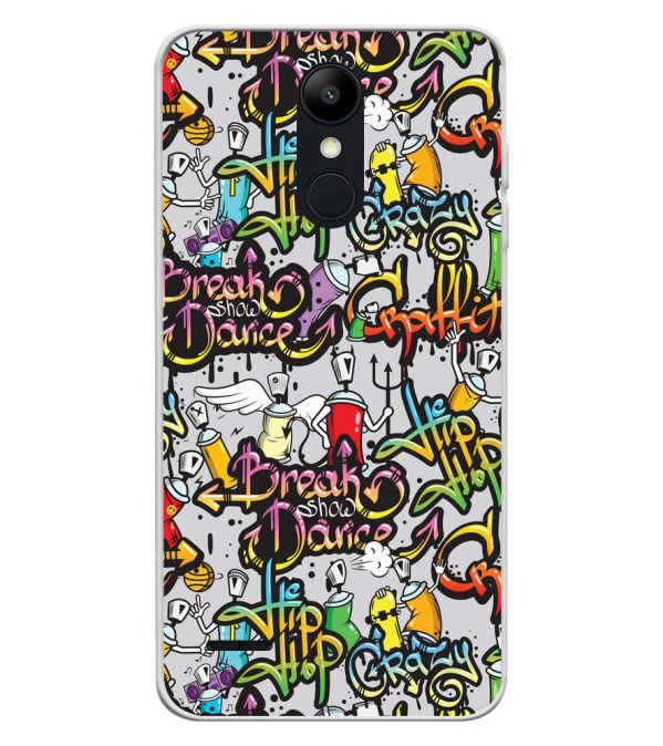 Crazy Graffiti Soft Silicone Back Cover for LG K9