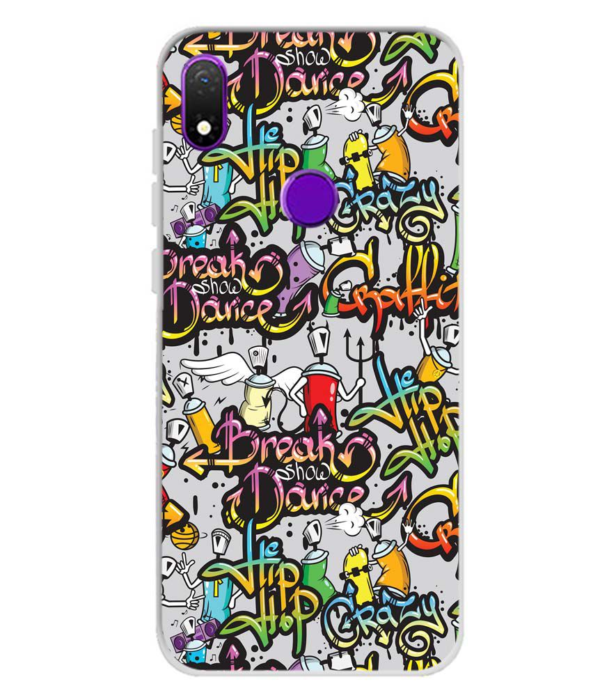 Crazy Graffiti Soft Silicone Back Cover for Mobiistar X1 Notch